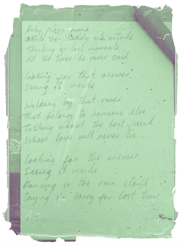 Some new lyrics...